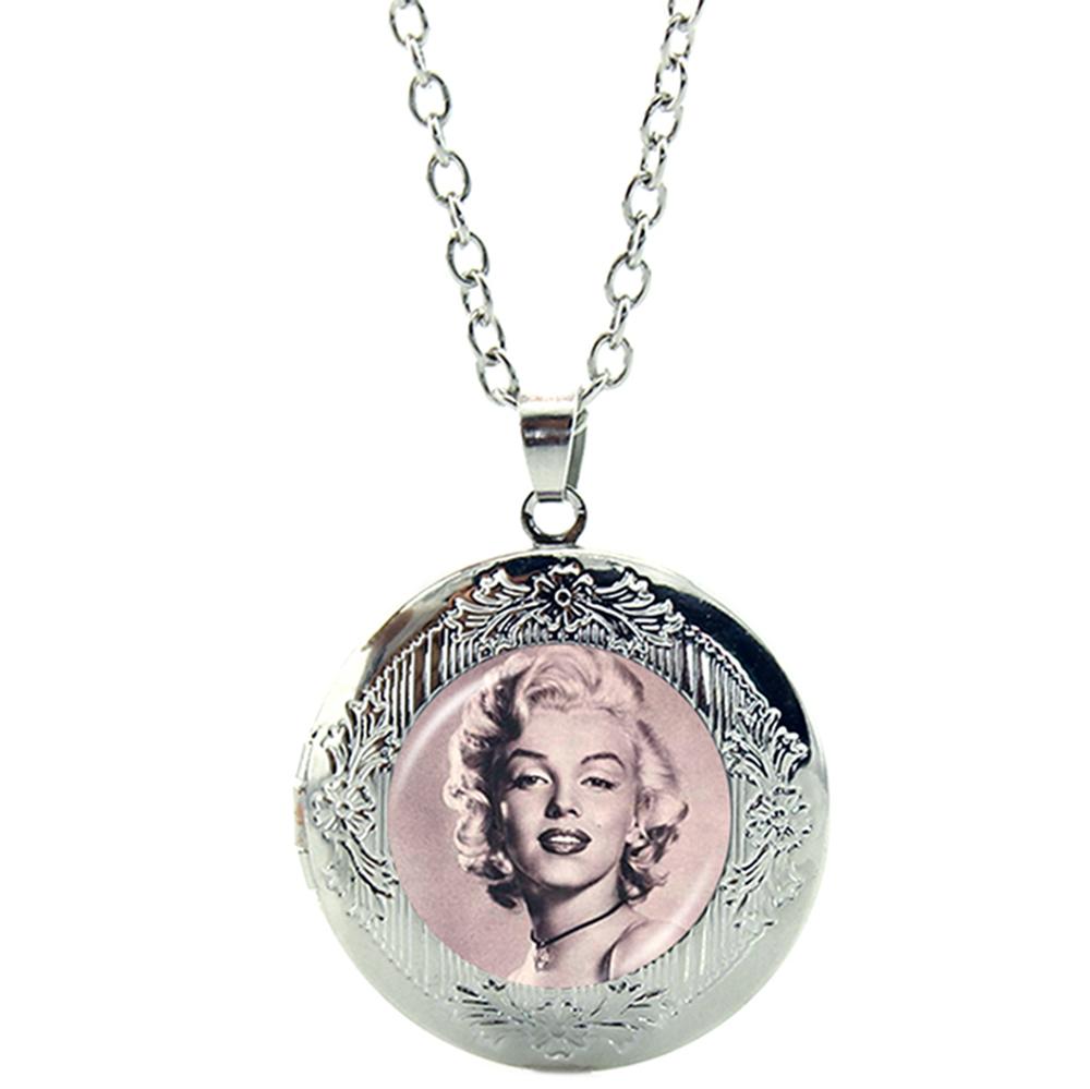 Pendentif Médaillon Marilyn Monroe Chaîne Réglable