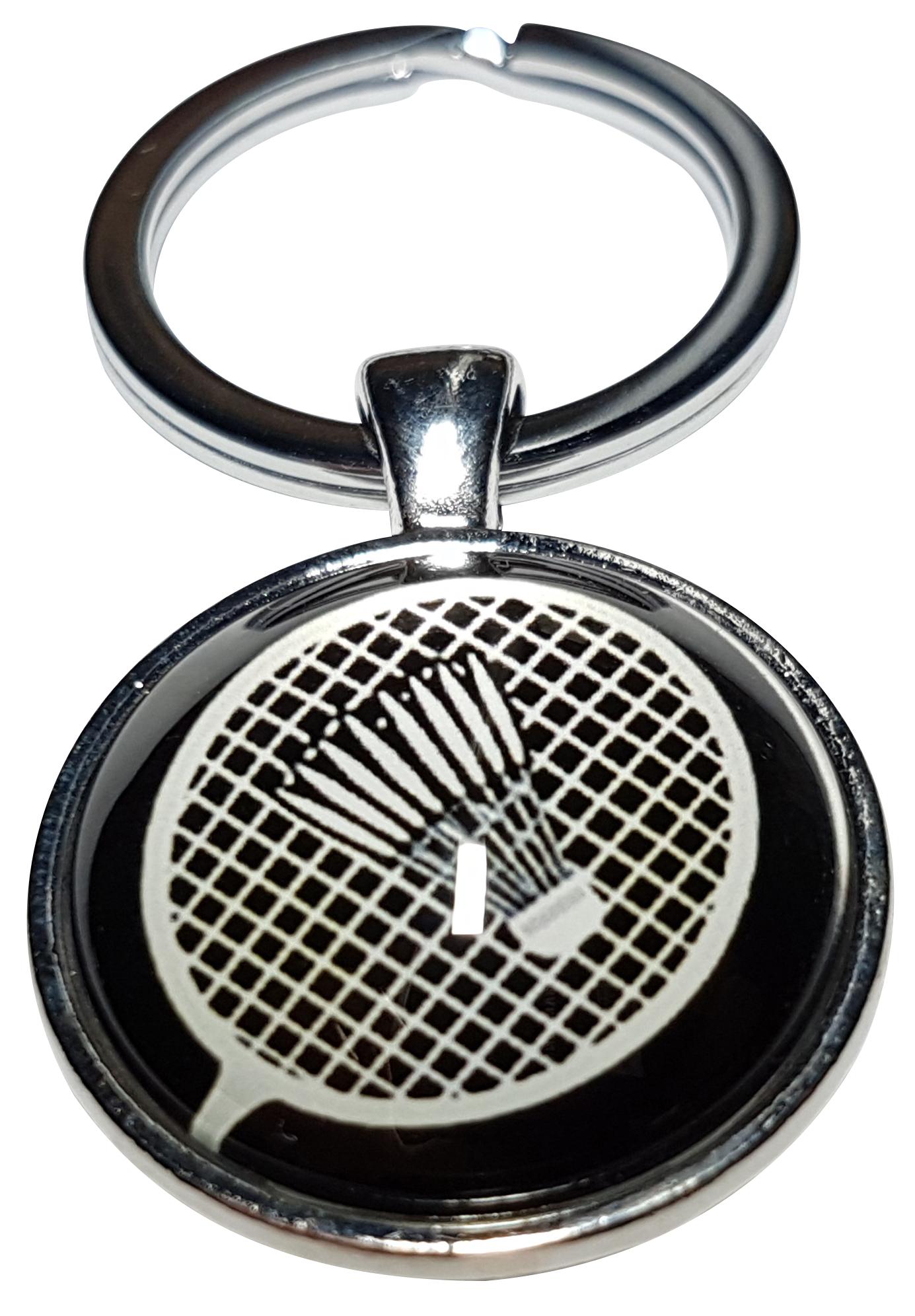 Porte clé en métal sport badminton raquette volant