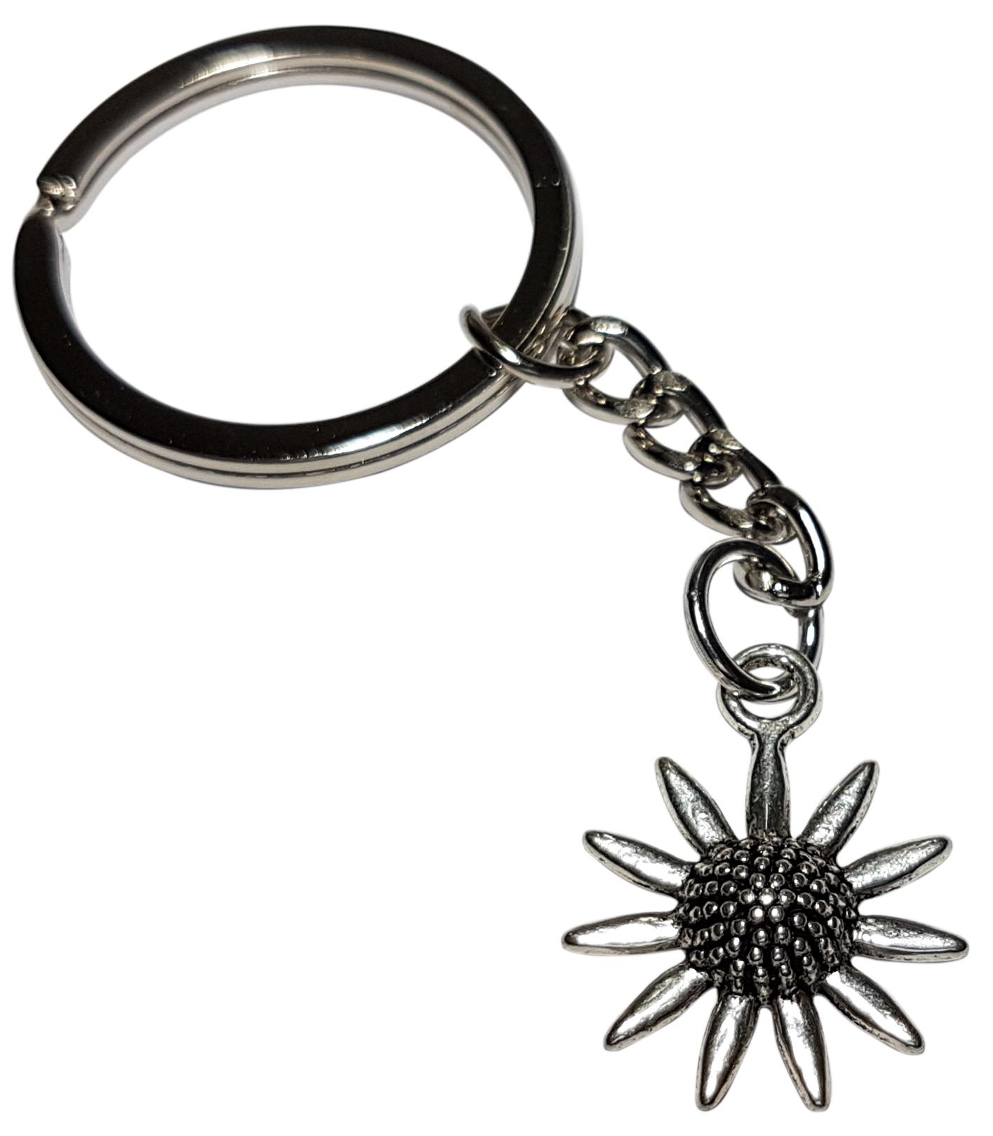 Porte Clé Métal Fleur Marguerite