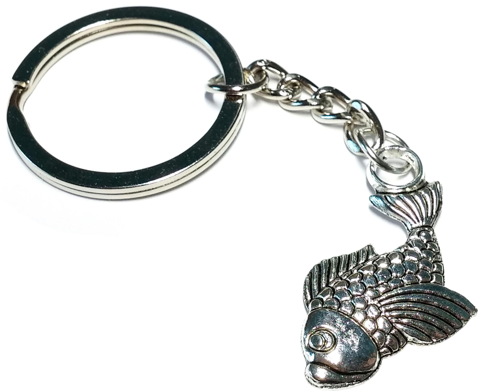 Porte clé en métal poisson carpe