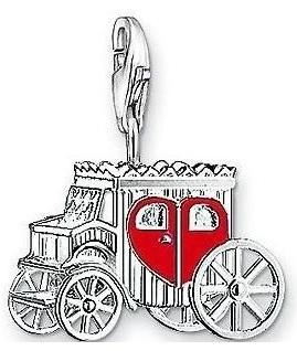 Charm Plaqué Argent Carrosse Love