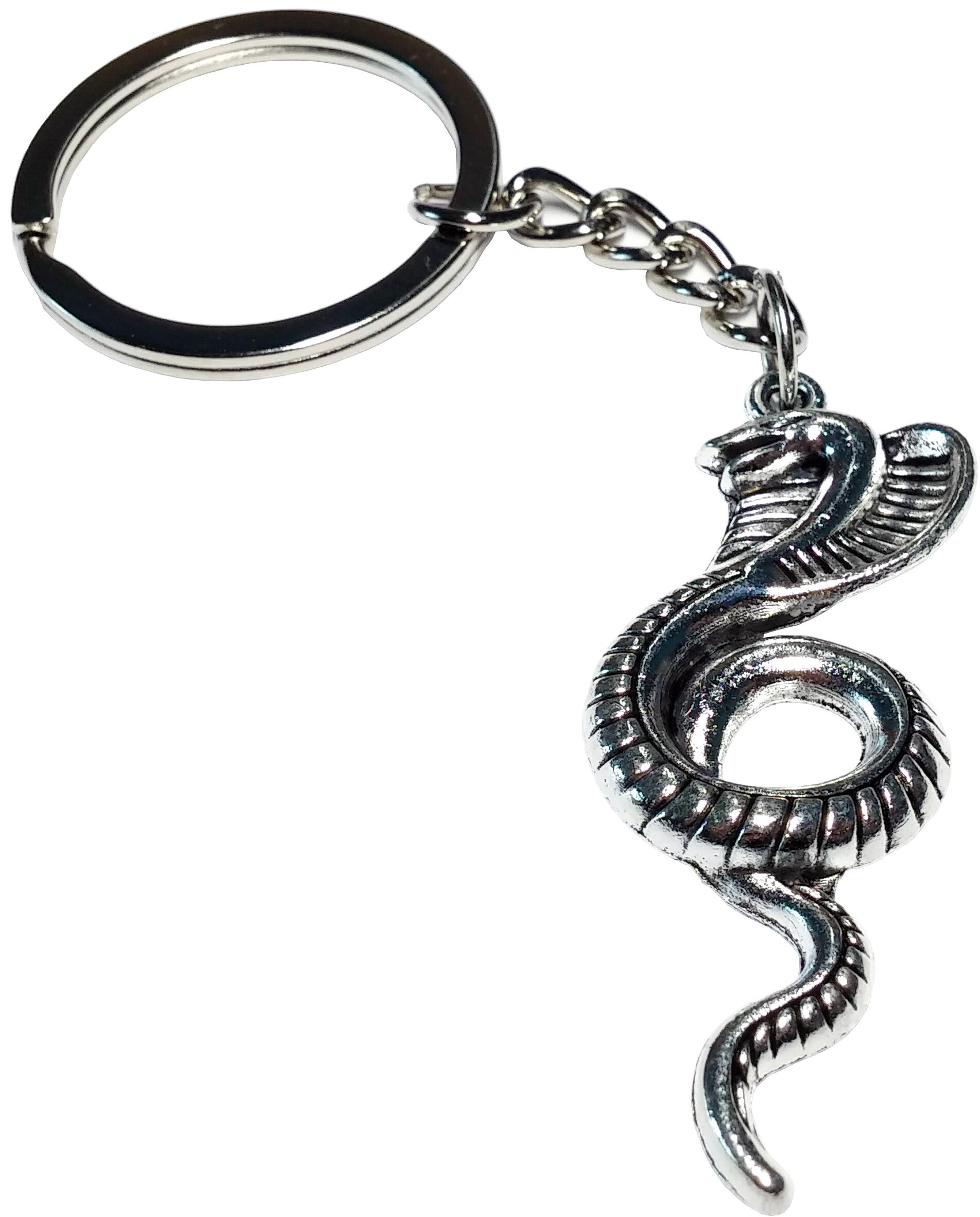Porte clé en métal  serpent cobra