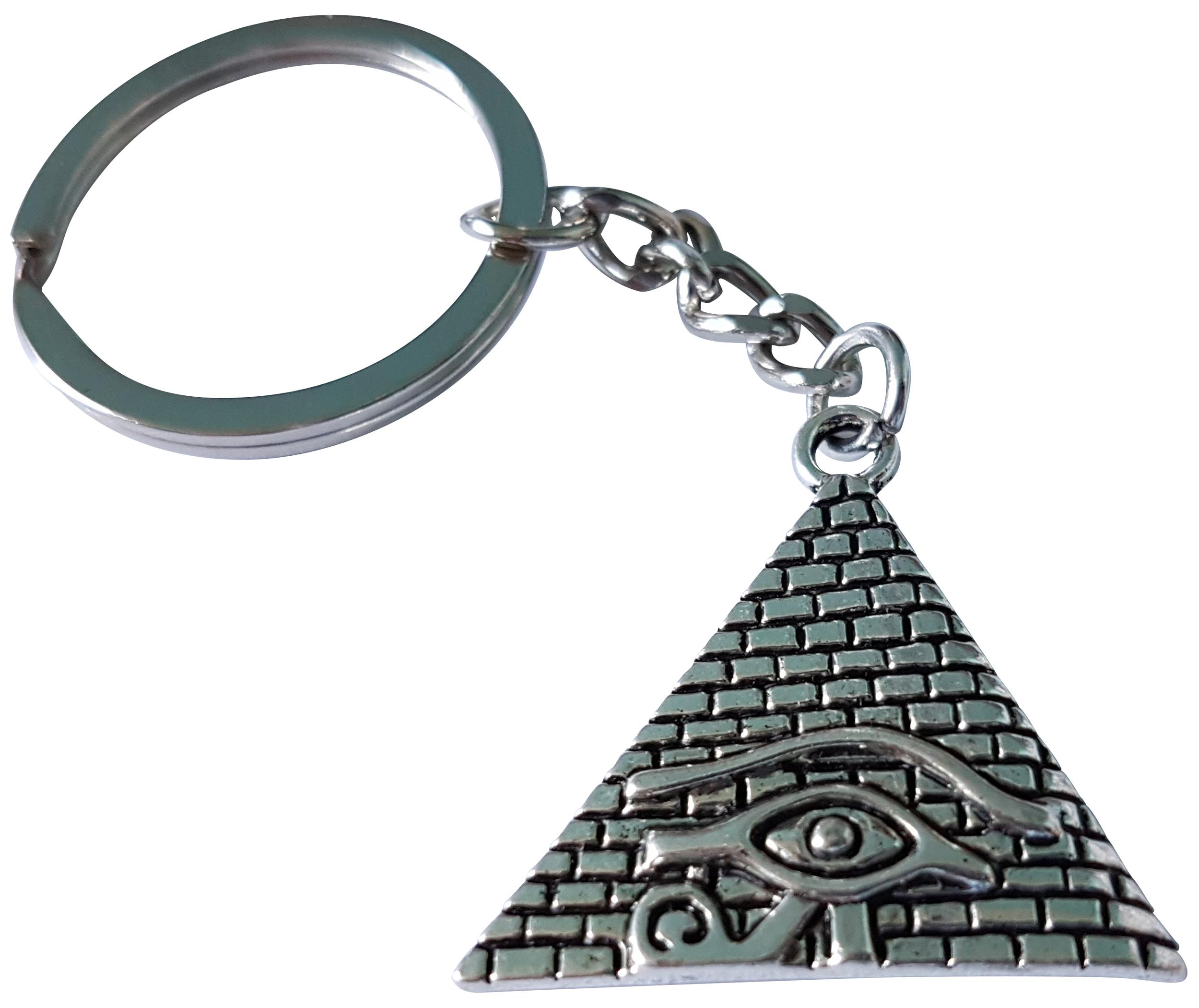 Porte Clé Métal Pyramide Oeil d\'Horus Dieu Faucon