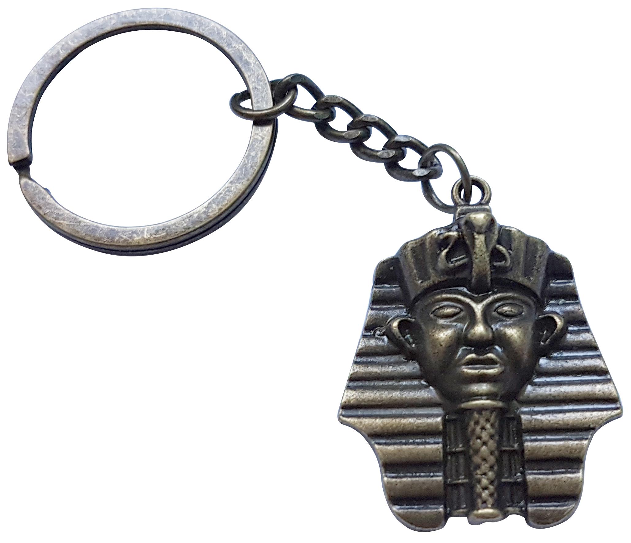 Porte Clé Métal Tête Pharaon Roi d\'Égypte