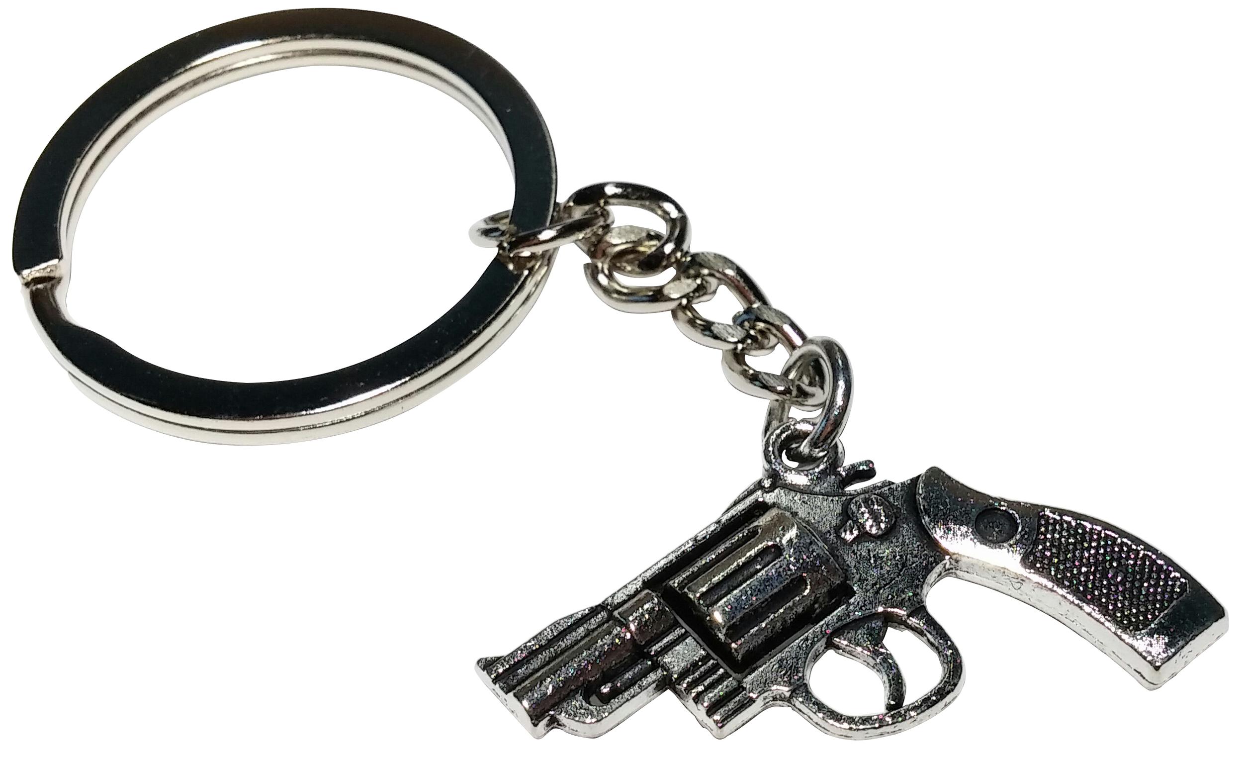 Porte Clé Métal Pistolet Révolver