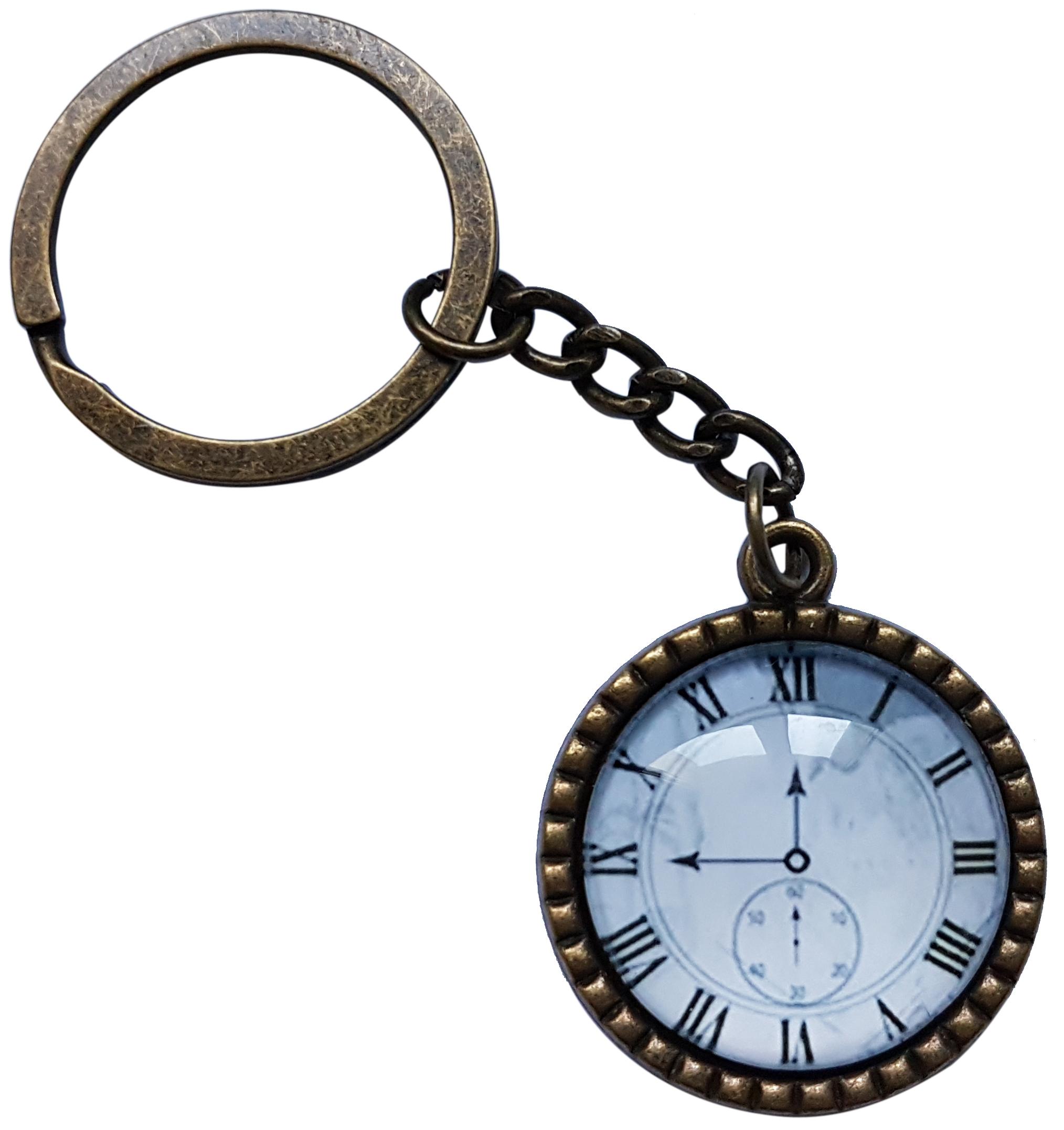 Porte Clé Métal Vintage Horloge