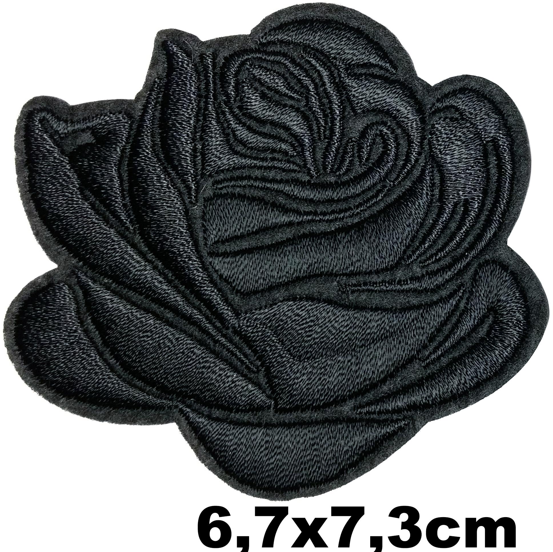 Patch flower fleur rose noir