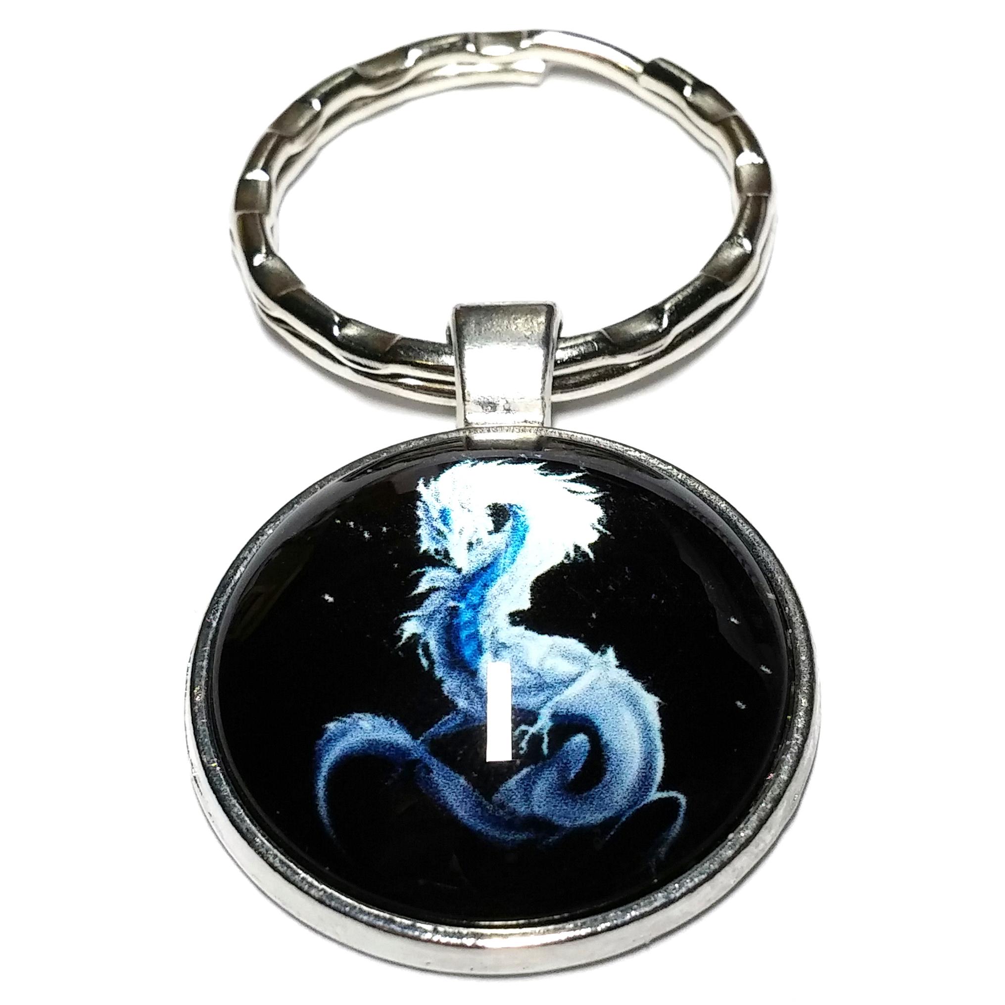 Porte clé métal dragon asiatique