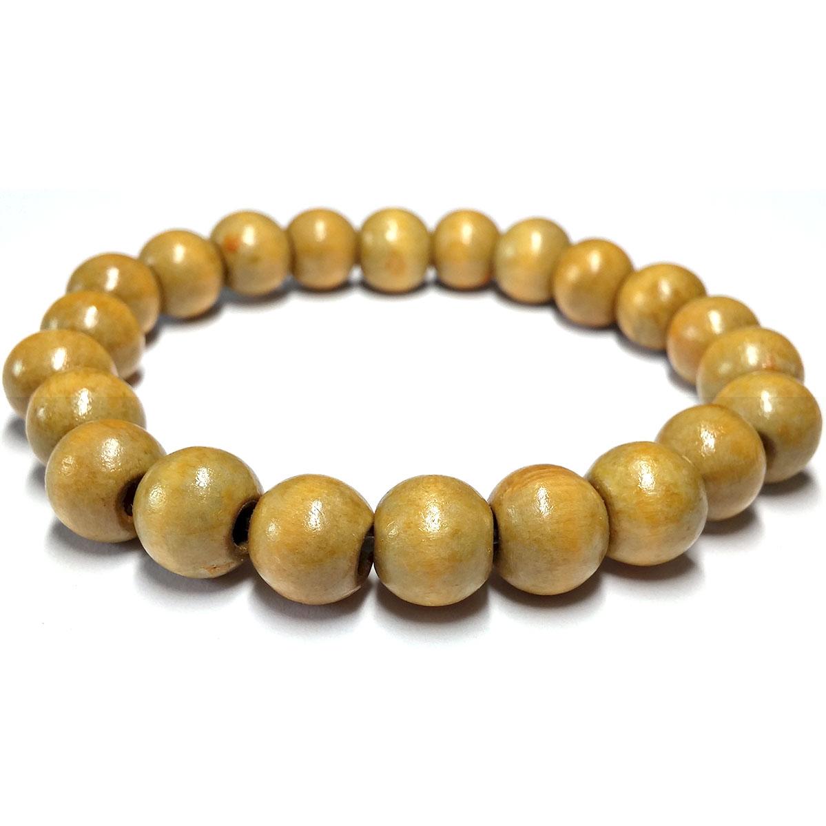 Bracelet Bois Perles Vertes