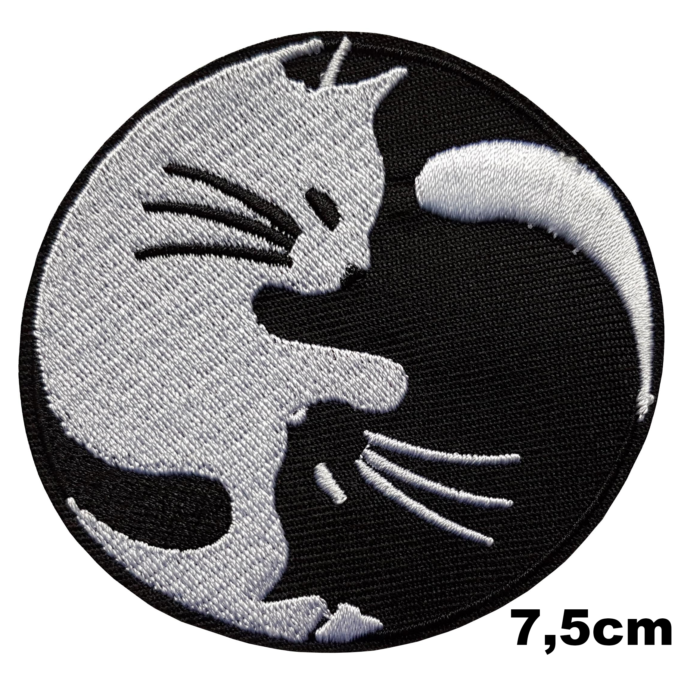 Patch thermocollant chat yin yang