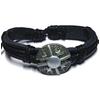 Bracelet cuir Noir Viking 1