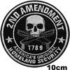 Grand patch tête de mort second amendement 1789