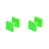 Piercings Faux Écarteurs Plug Carré Vert 8mm 2