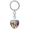 Porte clé coeur en métal archange saint Michel épée bouclier