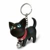 Porte clé plastique sac chat noir