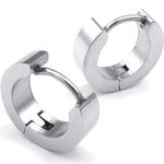 Boucles doreilles acier inoxydable anneaux créoles argenté 2