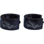 Boucles d'oreilles acier inoxydable anneaux créoles noir chimere