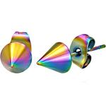 Boucles d'Oreille Clous Acier Inoxydable Pointe pointe multicolore