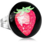 Boucles doreille clous acier inoxydable fraise 2