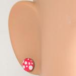 Boucles dOreille Clous Acier Inoxydable Rouge poids blanc 2