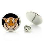 Boucles d'Oreille Clous Acier Inoxydable tigre