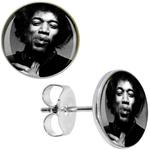 Boucles d'oreille clous acier inoxydable Jimi Hendrix