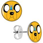 Boucles d'oreille clous acier inoxydable Adventure Time
