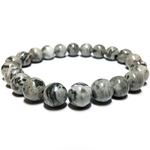 Bracelet pierre veine de dragon gris 2