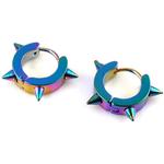 boucles-d-oreille-acier-inoxydable-anneaux-creoles-colore-a-pointe