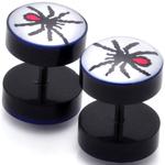 Piercings Faux Écarteurs Plug araignée