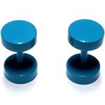Piercings Faux Écarteurs Plug Bleu Turquoise 6mm 2