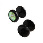 Piercings Faux Écarteurs Plug Noir Cubic Zirconia Coloré 4