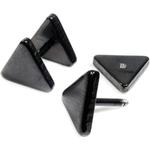 Piercings Faux Écarteurs Plug Triangle Noir 6mm