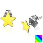 BOAI89D - Boucles d'Oreille Clous Puces Étoile