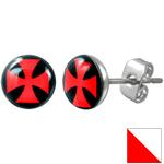 BOucle d'oreille Clous Croix de fer