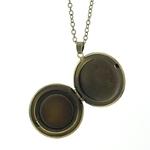Collier Pendentif Médaillon Bronze
