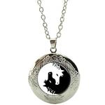Collier Pendentif Médaillon cheval yin yang