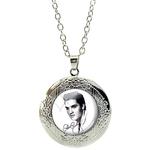 Collier Pendentif Médaillon Elvis Presley 1