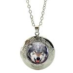 Collier Pendentif Médaillon loup chien enragé