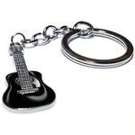 Porte clé en métal guitare noire 2