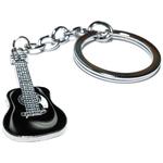Porte clé en métal guitare noire 1