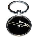 Porte clé en métal instrument de musique Trompette