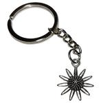 Porte clé en métal fleur marguerite