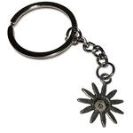 Porte clé en métal fleur marguerite dessous