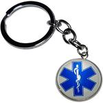 Porte Clé Métal Symbole Étoile de vie Bâton Asclépios Ambulance Ambulancier services médicaux d'urgence