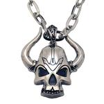 Collier pendentif skull corne démon 1