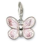 Pendentif Charm Argent Papillon