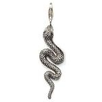 Charm Pendentif Plaqué Argent Serpent