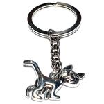 Porte clé en métal chat cartoon