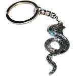 Porte clé en métal  serpent cobra dessous